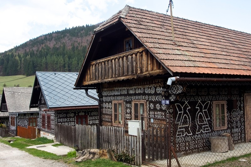 Traditional wooden house in Čičmany