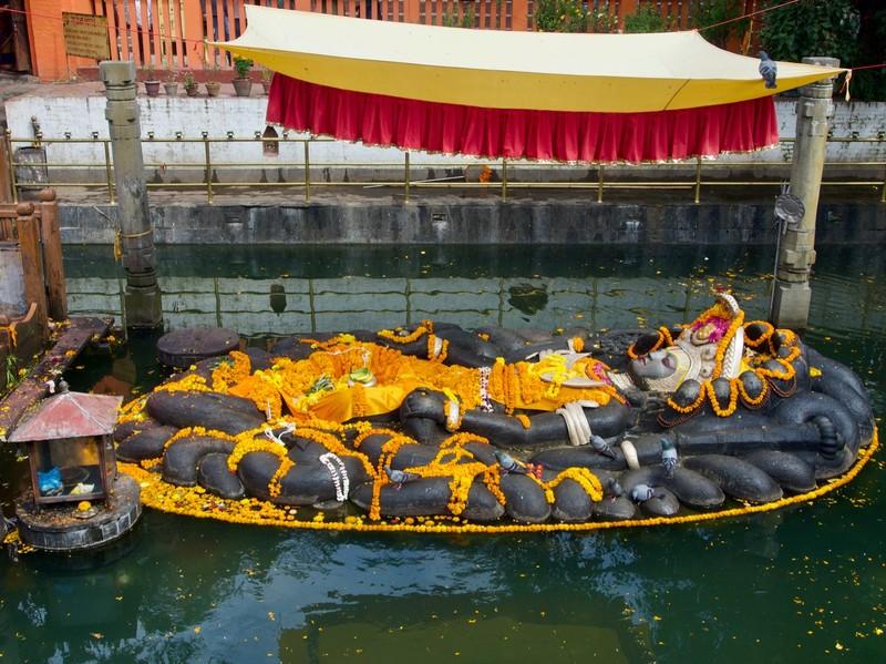 Budhanilkantha Temple sleeping Vishnu