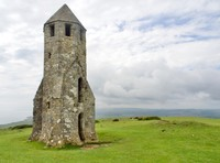 St Catherine's Oratory, medieval tower build in 1328 as penance by a local landowner who had plundered church property
