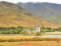 Kilchurn Castle,constructed in the mid-15th century as the base of the Campbells of Glenorchy clan