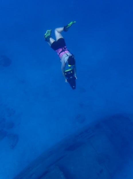 snorkeling - sunken boat