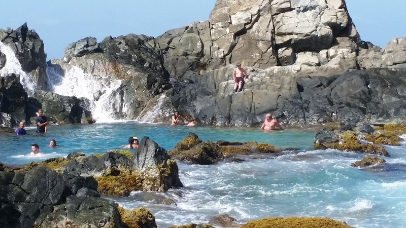 Natural Pool up close (after climbing rock stairs)