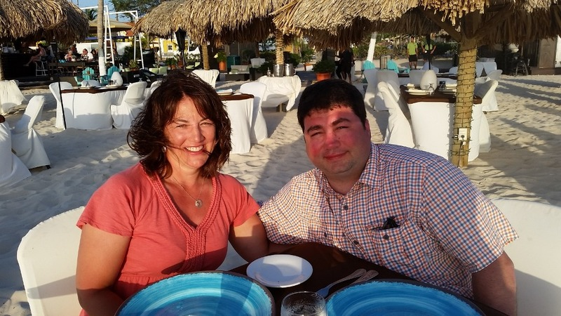 Dinner at Passions, on the beach