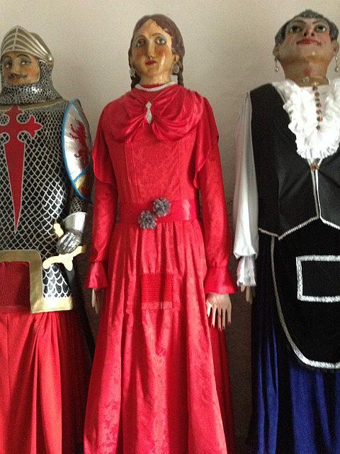 Religious effigies in a museum