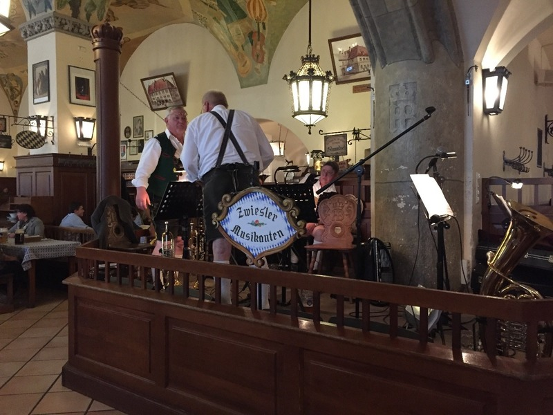 Oompah band at the Beer Hall