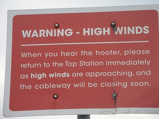Wind warning
