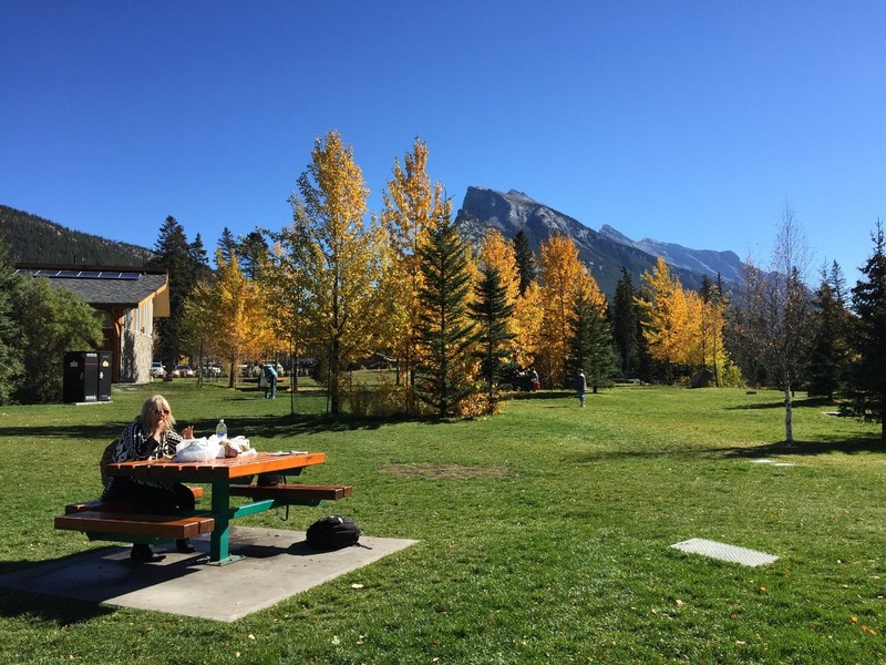 Banff City Park where we had a picnic lunch