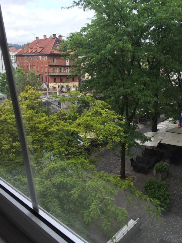 View from Ljublijia window of river