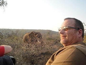 Brad & elephant