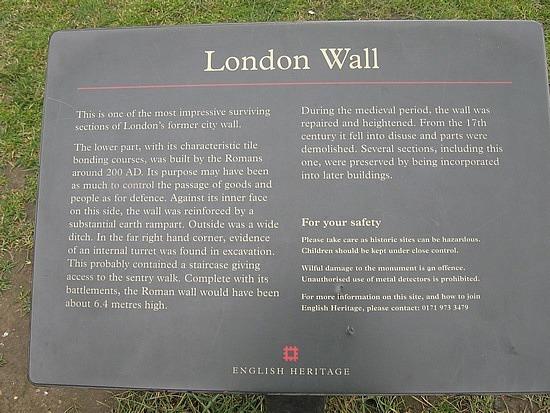 London Wall Info