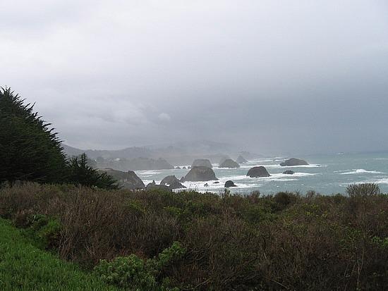Rocks off the coast