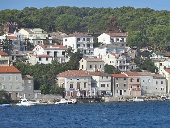 Village on island