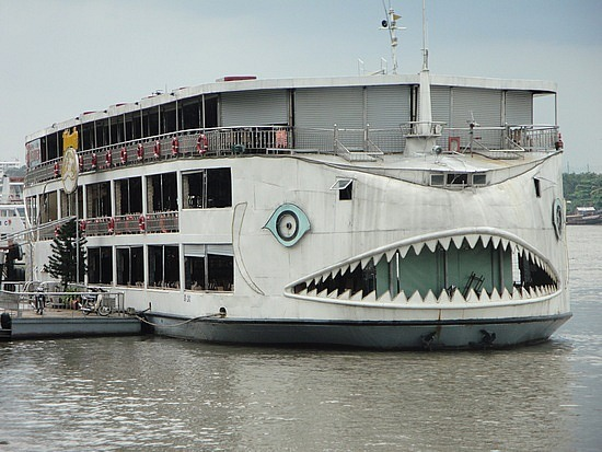 Jaws boat on the Saigon River