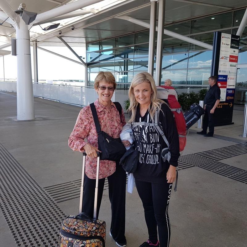 Mum and I Brisbane airport