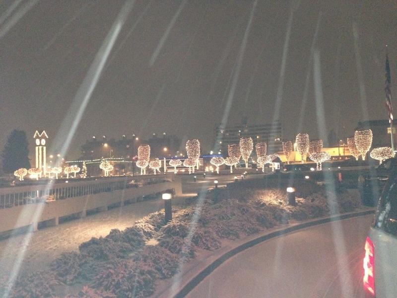 Snowing in Coeur d'Alene