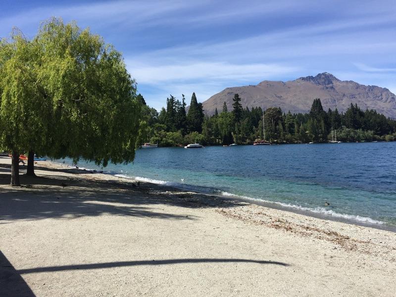 The town beach on Lake Wakatipu