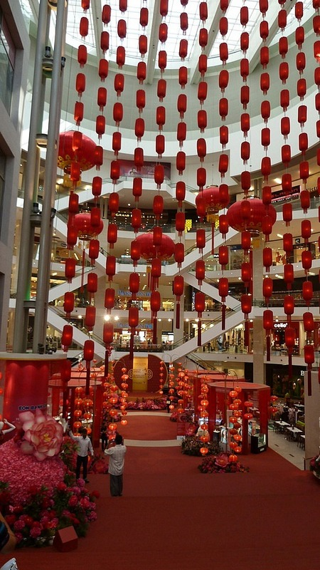 Chinese New Year decorations in Pavilions Mall