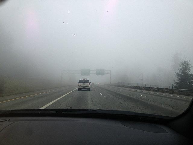 Leaving Foggy Seattle