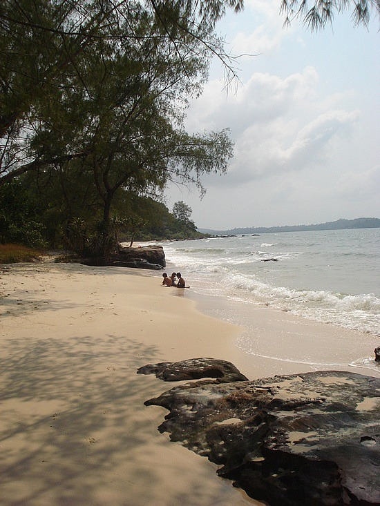 Beautiful beach we swam at