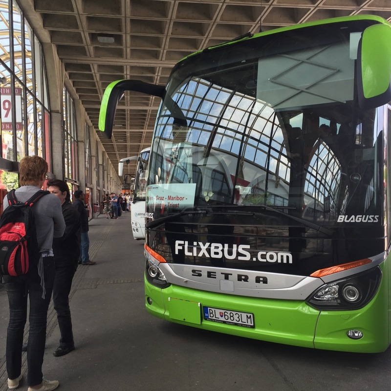 Rest stop in Maribor Bus station