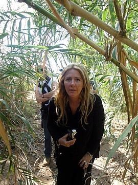 Leigh on exploring walk