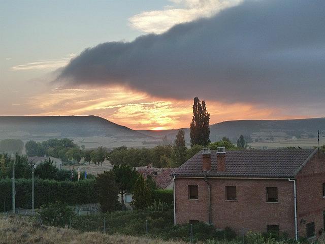 Sunrise outside of Castrojeriz