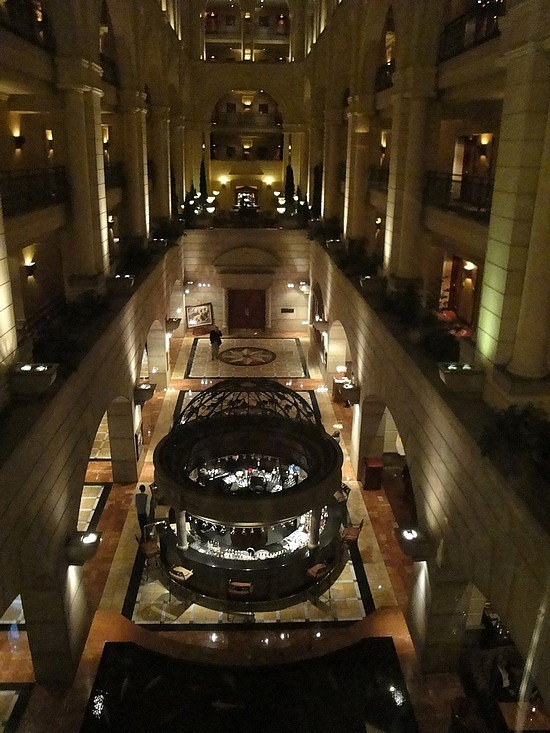 Atrium in the hotel