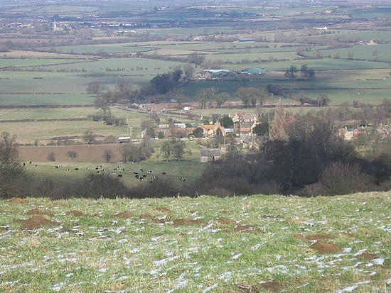 Village below we were heading to