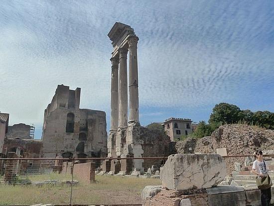 Forum - Temple of Saturnas