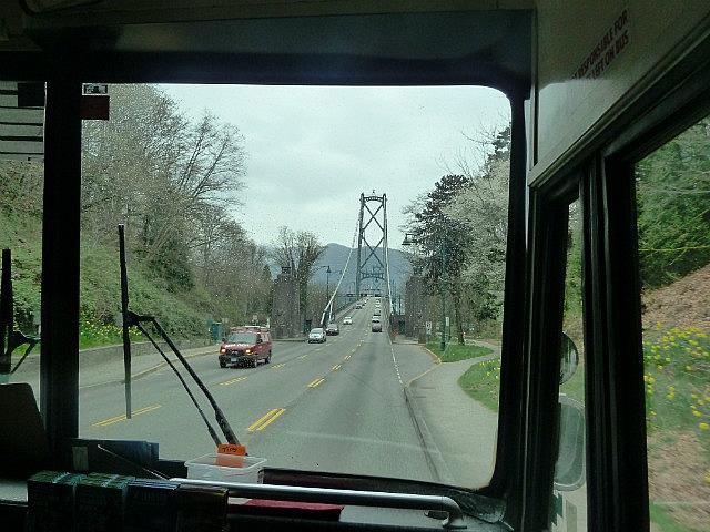 Driving over the Iron Gate Bridge