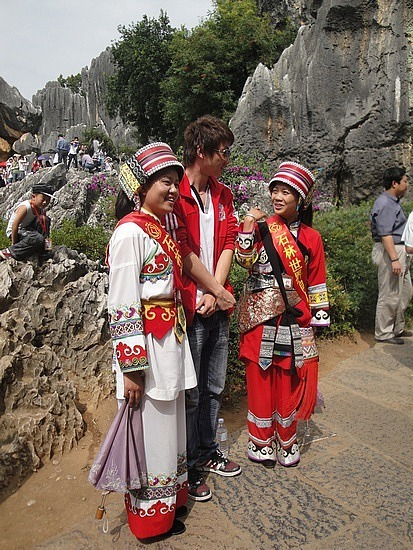 Guides in traditional dress