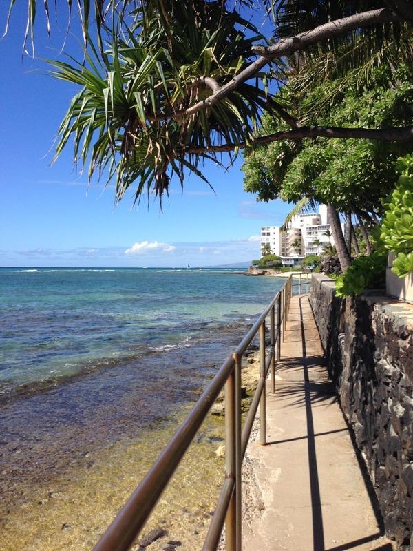 Beach front walk