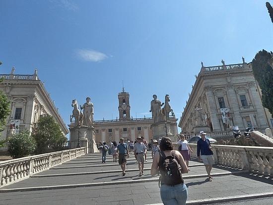 Campidoglia PIazza - Michelangelos stairs