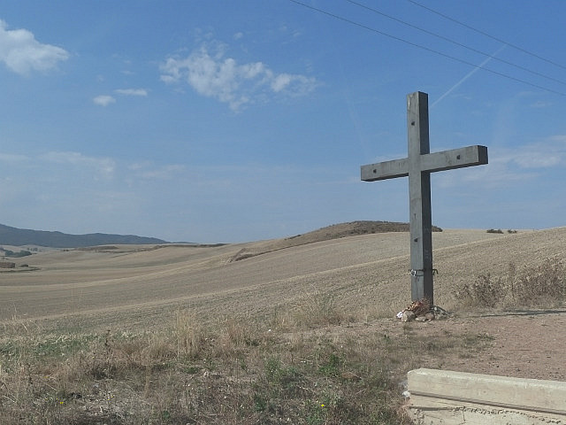 One of the many crosses on the way