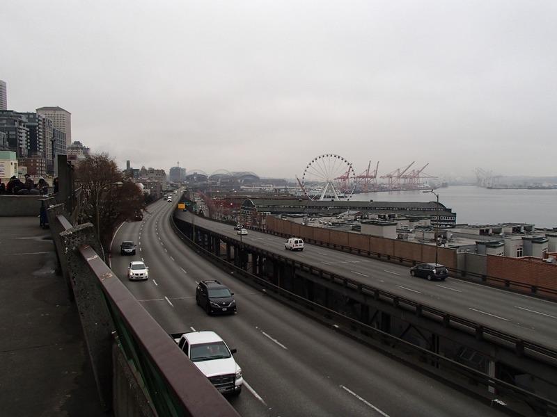Overlooking the Seattle ferris wheel