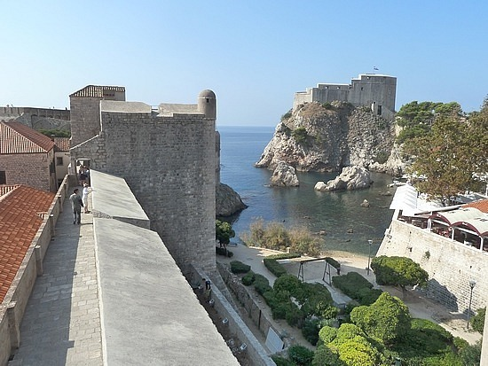 View over to 14th century fortress