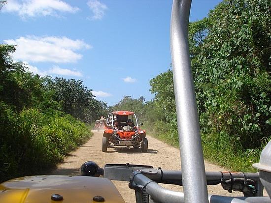 Dusty dirt road