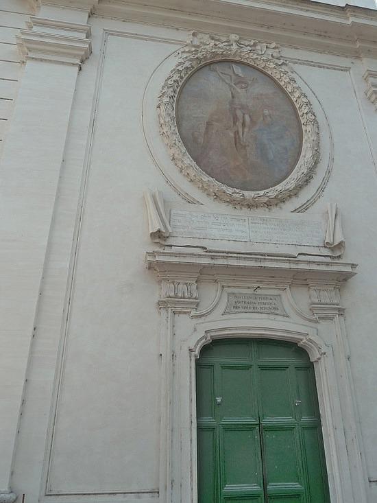 Catholic church outside ghetto walls
