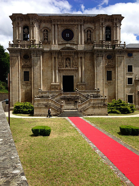 Red carpet out for a wedding