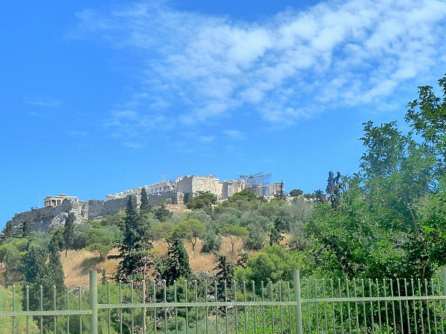 Looking up to Acropolis