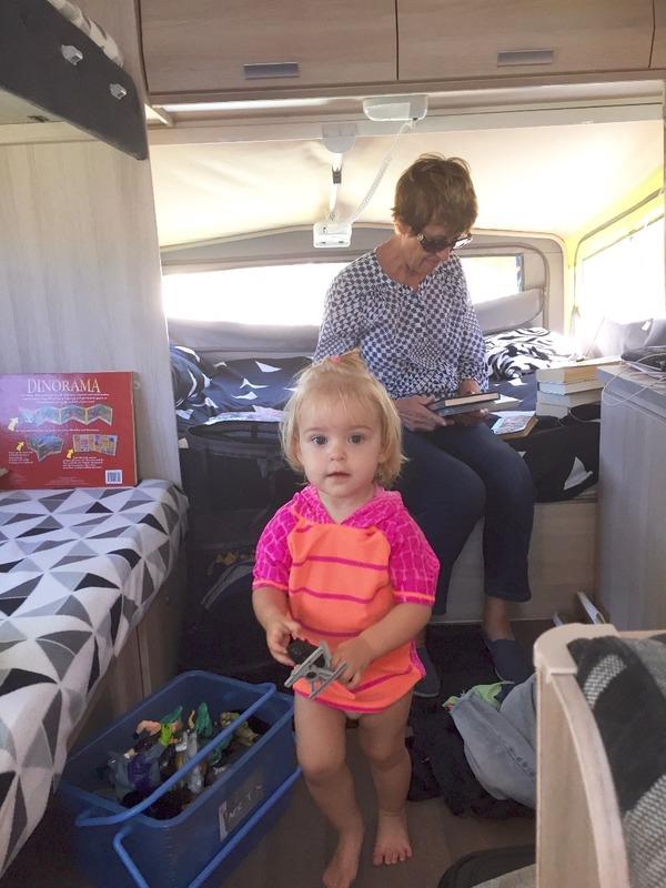 Mum and Eliana in the new van