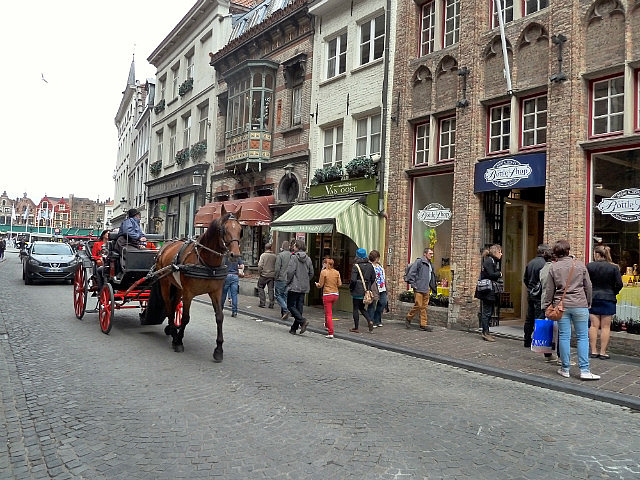 Bruge streets with clip clop of horses