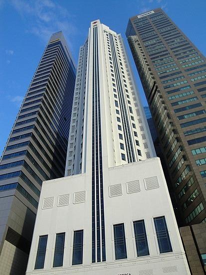 Past skyscrapers