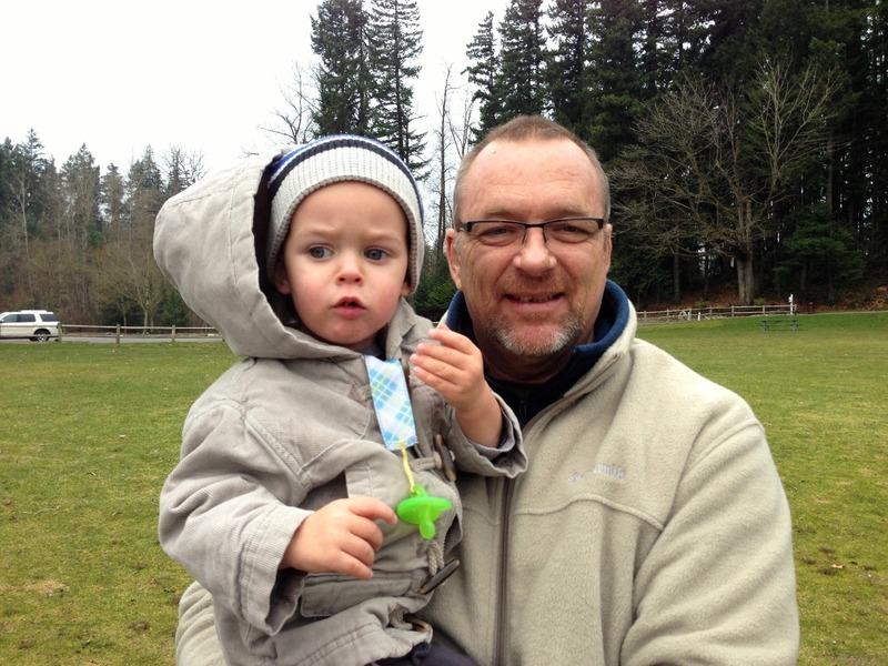 Papa and Ezra at  Lake Wilderness Park