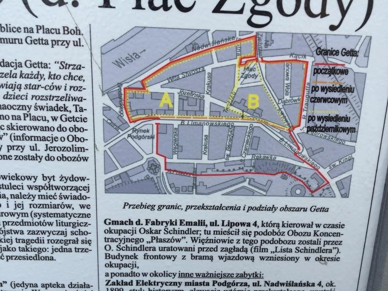 Area of the ghetto