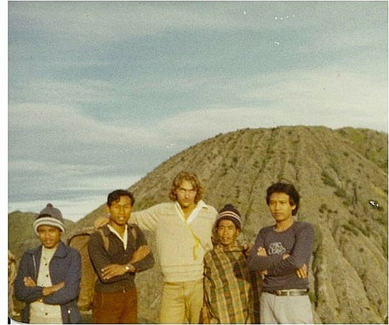 Brad at Mt Bromo