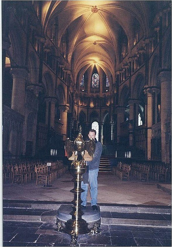 Brad in Canterbury Cathedral