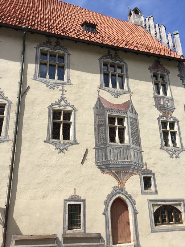 Fussen - illusionist dormer windows on the castle