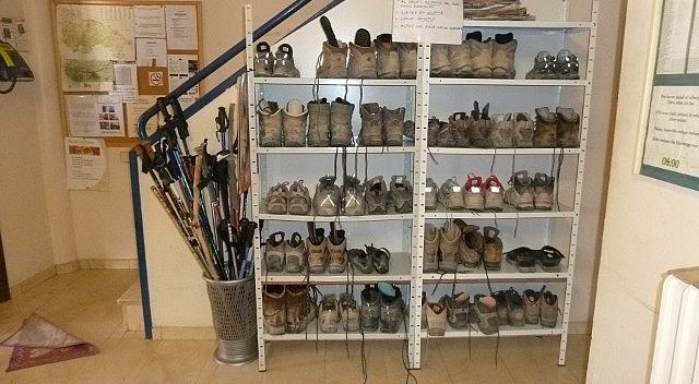 Shoe racks insid ethe front door
