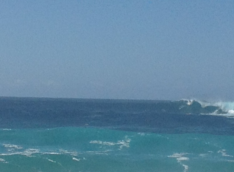 Catching the big waves out the back